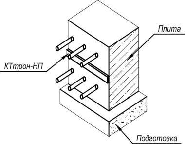 рис 12 Гидроизоляция холодного шва плит